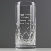Personalised Lead Crystal Hi Ball Glass