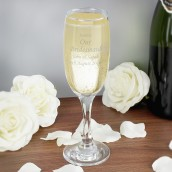 Wedding Message Champagne Flute