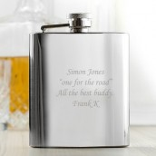 Personalised Classic 6oz Hip Flask