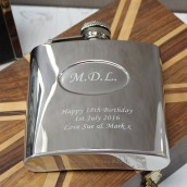 Langdale 6oz Hip Flask with Oval Recess