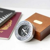 Engraved Compass & Case Set