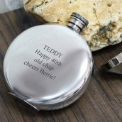 6oz Plain Pewter Round Hip Flask