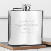 Engraved 4oz Stainless Steel Hip Flask