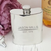 Classic 6oz Pewter Hip Flask