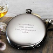 Slim Sporran Pewter Round Hip Flask