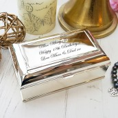 Silver Plated Regency Rectangle Trinket Box