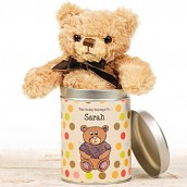 Personalised Any Occasion Teddy In A Tin
