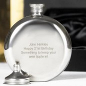 Personalised Classic 6oz Round Hip flask
