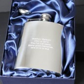 Engraved 8oz Stainless Steel Hip Flask