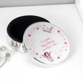 Silver Plated Round Trinket Box - Fairy