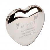 Silver Plated Square Compact Mirror Bridal Party