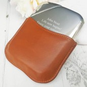 Personalised Novus Pewter Hip Flask