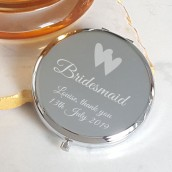 Silver Plated Bridal Party Compact Mirror