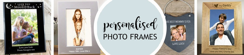 personalised photo frames engraved