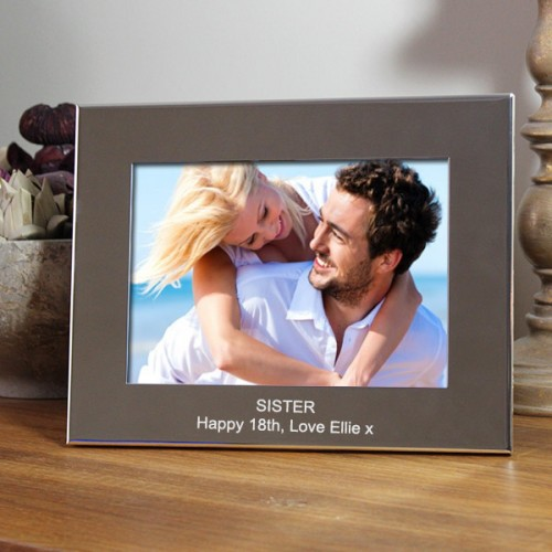 Engraved Silver Plated Classic Photo Frame 7x5
