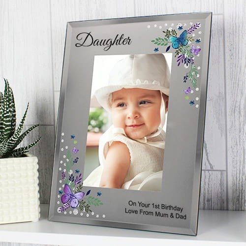Personalised Butterfly Daughter Photo Frame 6x4