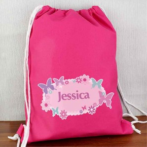 personalised butterfly swim bag