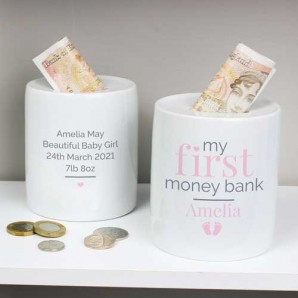Baby girl money box