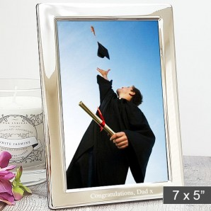 personalised slim silver 5x7 photo frame