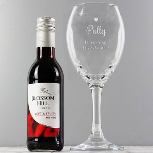 personalised red wine gift set