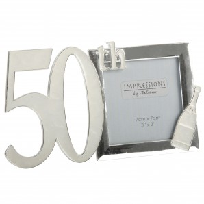 engraved 50th birthday photo frame