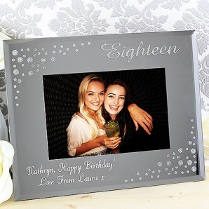 personalised 18th photo frame
