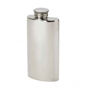 engraved purse hip flask