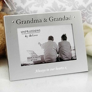 engraved grandma and grandad photo frame