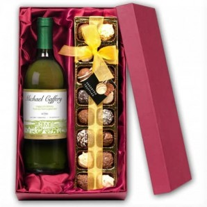 personalised wine and chocolates