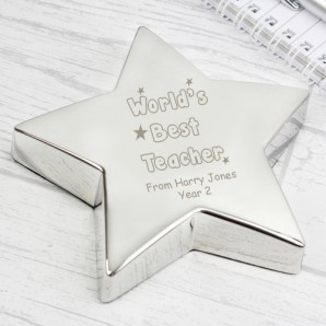 star paperweight engraved