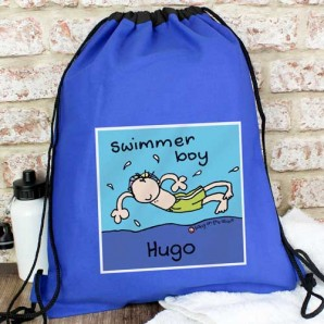personalised boys swim bag