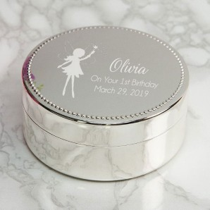 fairy trinket box personalised