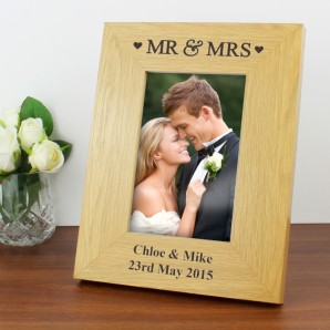 personlaised wedding photo frame
