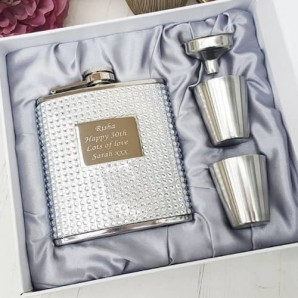 hip flask with crystals