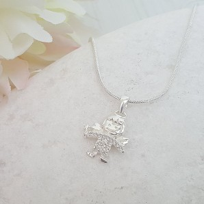 silver fairy necklace