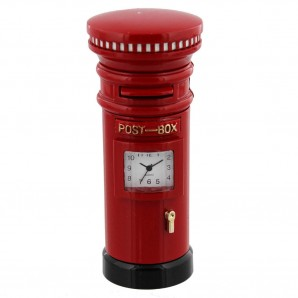 engraved post box clock