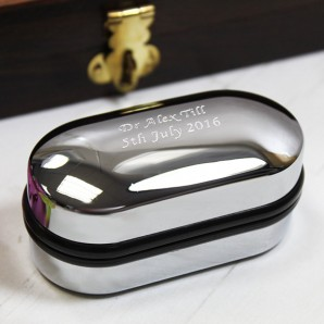 personalised cufflink case box