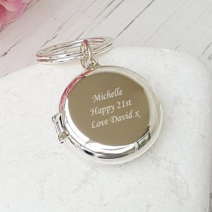 locket keyring personalised
