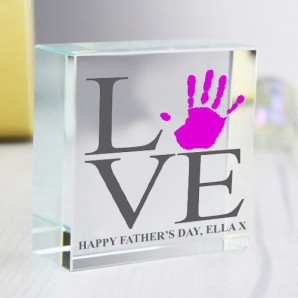 crystal handprint gift