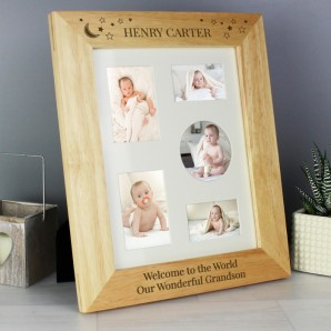 personalised little star baby photo frame
