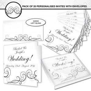 personalised wedding invites