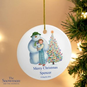 Personalised The Snowman and the Snowdog Decoration