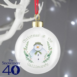 Personalised The Snowman Bauble