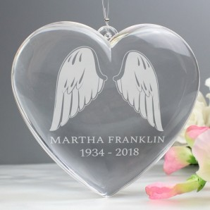 personalised heart memorial decoration