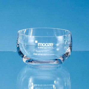 personalised crystal serving dish