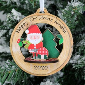 personalised santa bauble