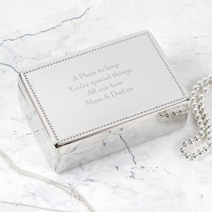 personalised silver jewellery box