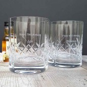 engraved whiskey glasses gift set