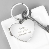 Heart locket keyring