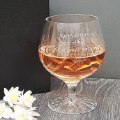 engraved brandy glass